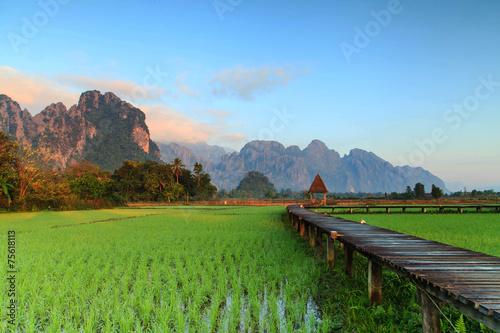 Deurstickers Overige Vang Vieng Resort, Laos