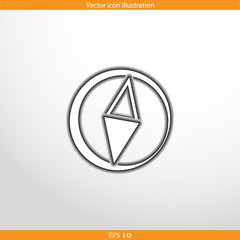 Vector compass web flat icon