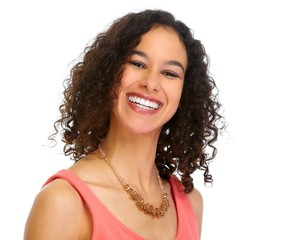 Young smiling business woman portrait.