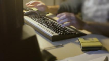 Man PC keyboard typing broken