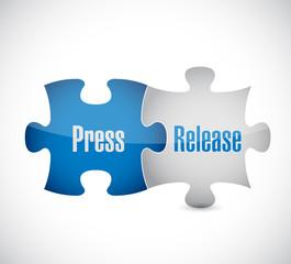 press release puzzle pieces illustration