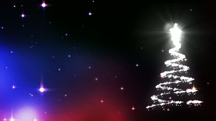 Christmas tree animation with stars