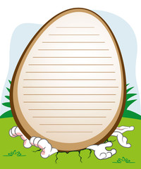 Post an Easter bunny crushed by an egg