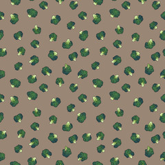 broccoli seamless pattern