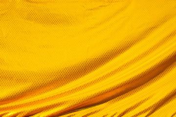 gold crumpled silk fabric textured