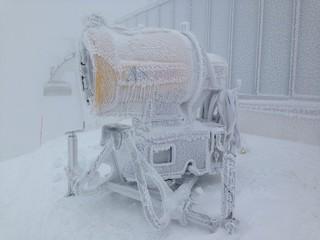 Schneekanone eingefroren