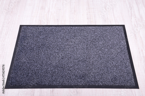 Grey carpet on floor close-up