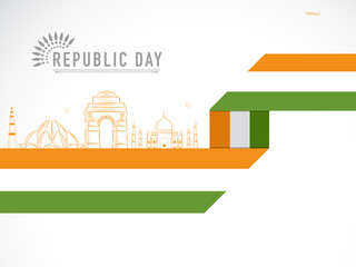 Indian Republic Day celebration with historical monuments.