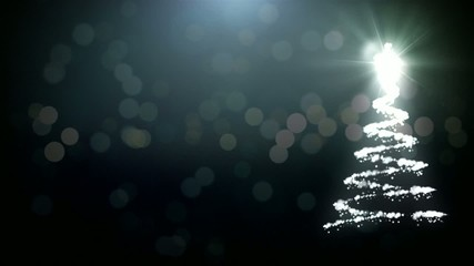 Christmas tree animation with particles