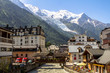 Leinwandbild Motiv View from Chamonix to Mont Blanc Glacier