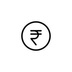 Rupee Trendy Thin Line Icon
