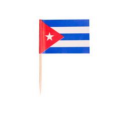 Toothpick Flag Cuba