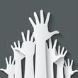 hands up symbol - 75628129