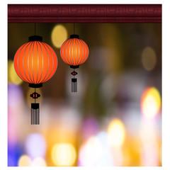 Chinese Lantern Background - Illustration