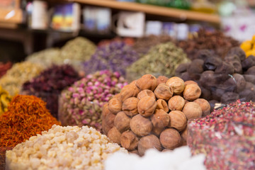 Dubai spices at the souq market
