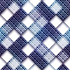 Mosaic pattern with blank rhombus