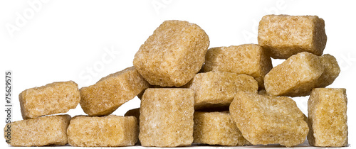 Sugar photographed on a white background macro