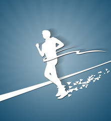 Running Man white paper silhouette
