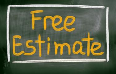 Free Estimate Concept