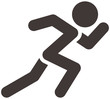 Leinwanddruck Bild - Running icon