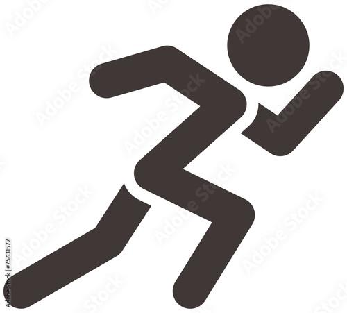 Leinwanddruck Bild Running icon