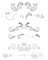 Floral shapes set