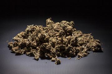 Marijuana isolated on a black background
