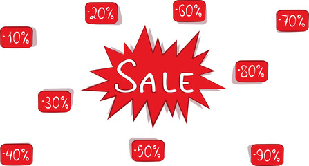 Banner with the image of discounts and sales buy now