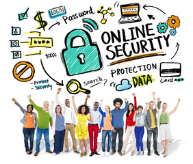 Online Security Protection Internet Safety People Concept