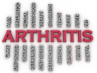 3d imagen Arthritis  issues concept word cloud background