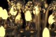 canvas print picture - Energiesparlampe im Kronleuchter