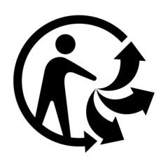 Symbole produit recyclable