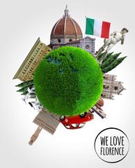 Firenze Mondo Italia Viaggio Arte - Florence Earth Italy Travel