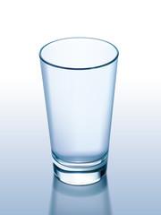 Empty glass. Vector illustration