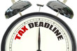 canvas print picture - Tax deadline