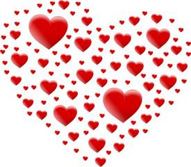 czerwone serce z czerwonych serc 2015