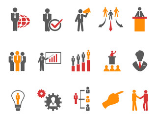 Business and Management Icons orange series