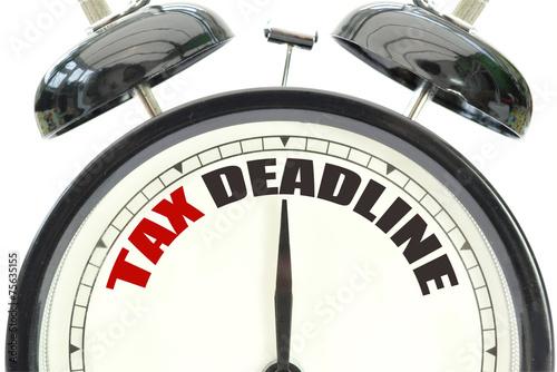 canvas print picture Tax deadline