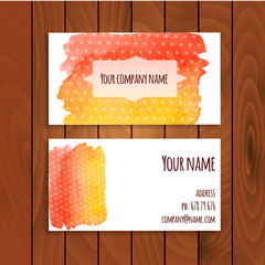 Real watercolor abstract vector card background