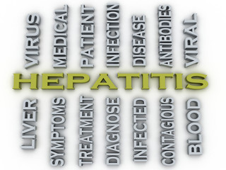 3d image Hepatitis  medical concept word cloud background