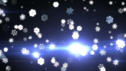 snow flake abstract 4k