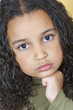 Sad Sulking Girl Child