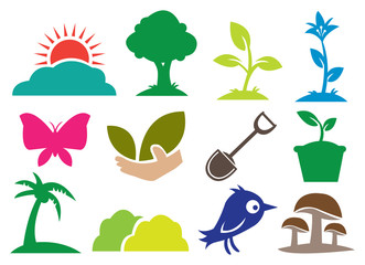 Ecology and Botany icons