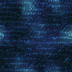 Original inscriptions of zodiacs names