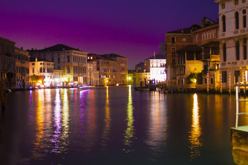 Venice grand canal by night