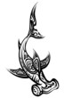Black and White Hammerhead Shark Polynesian Tattoo - 75638176
