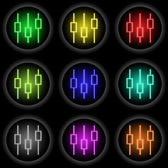 Button Glow Equalizer black