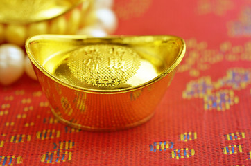 Chinese new year and gold ingots