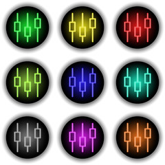 Button Glow Equalizer white