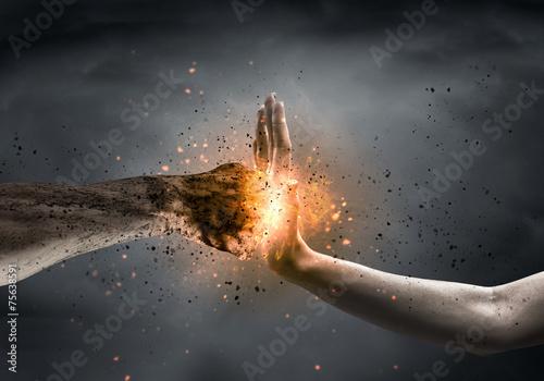 Leinwanddruck Bild Stop the violence